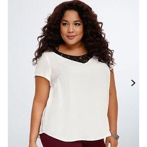torrid lace inset blouse plus size 2x
